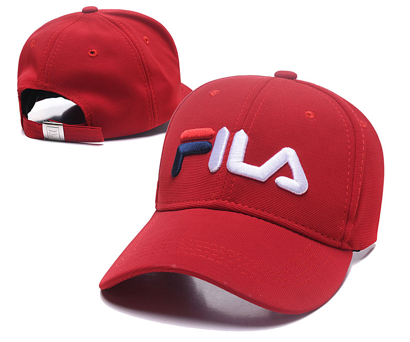 Fila Classic Red Sports Peaked Adjustable Hat SG