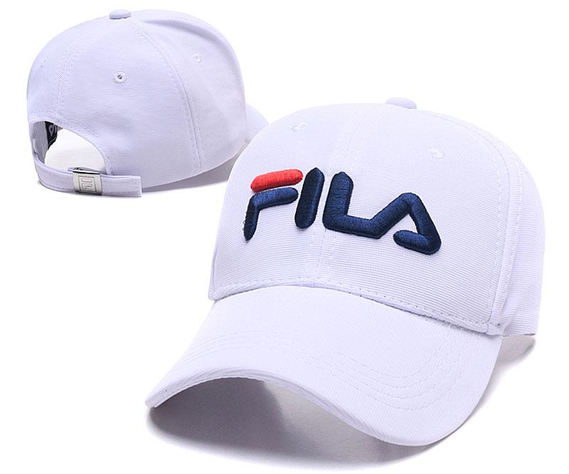Fila Classic White Sports Peaked Adjustable Hat SG