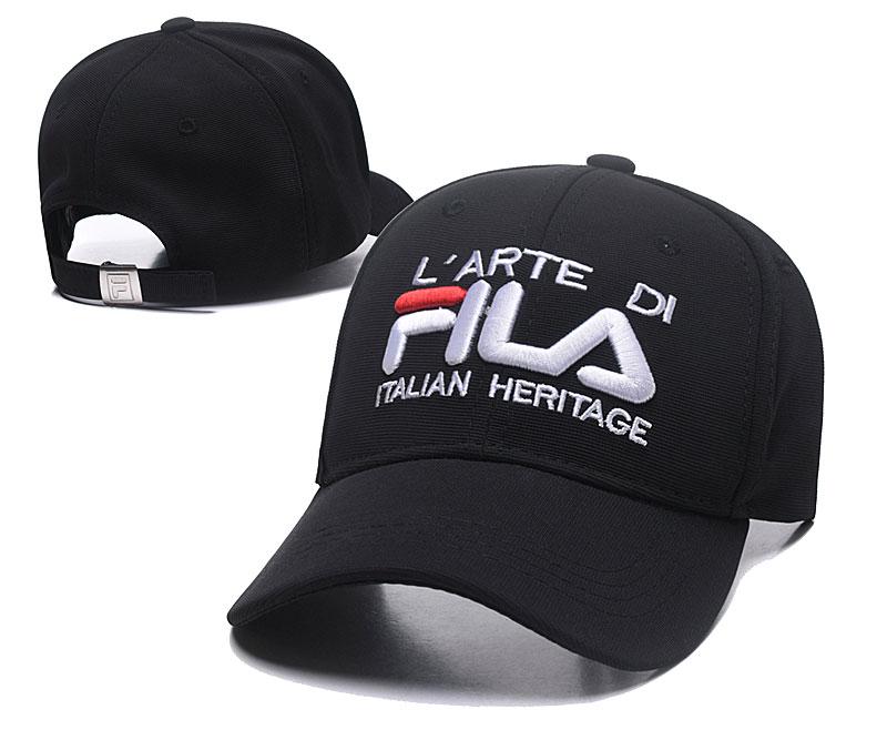 Fila Italian Heritage Black Sports Peaked Adjustable Hat SG