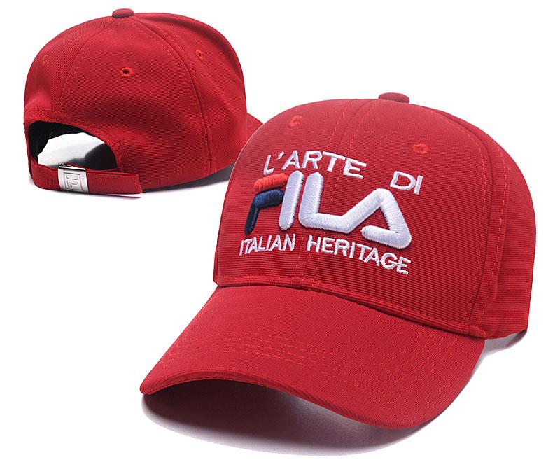 Fila Italian Heritage Red Sports Peaked Adjustable Hat SG