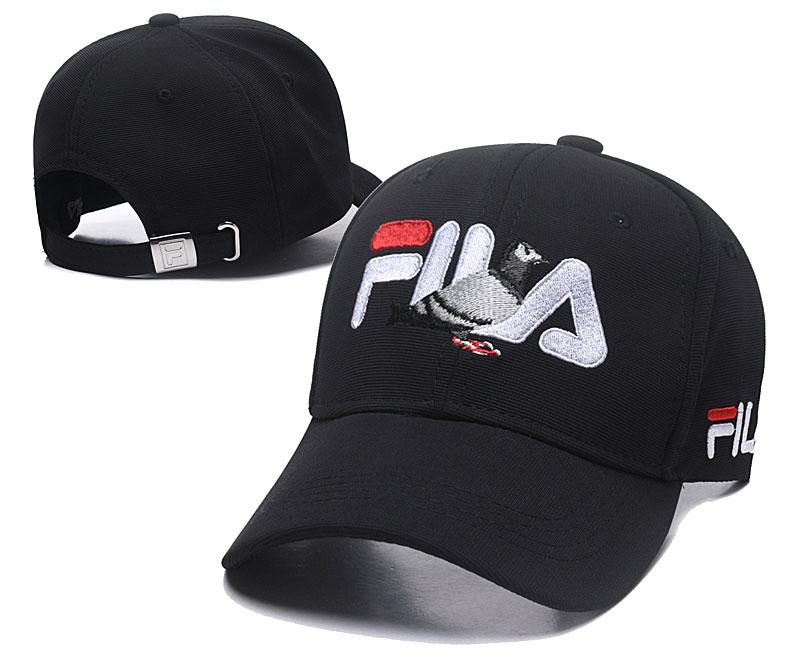 Fila Staple Black Sports Peaked Adjustable Hat SG