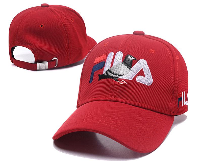 Fila Staple Red Sports Peaked Adjustable Hat SG