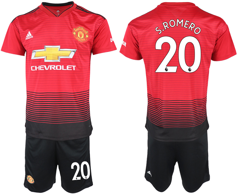 2018-19 Manchester United 20 S.ROMERO Home Soccer Jersey