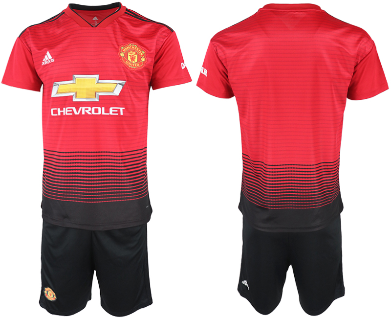 2018-19 Manchester United Home Soccer Jersey