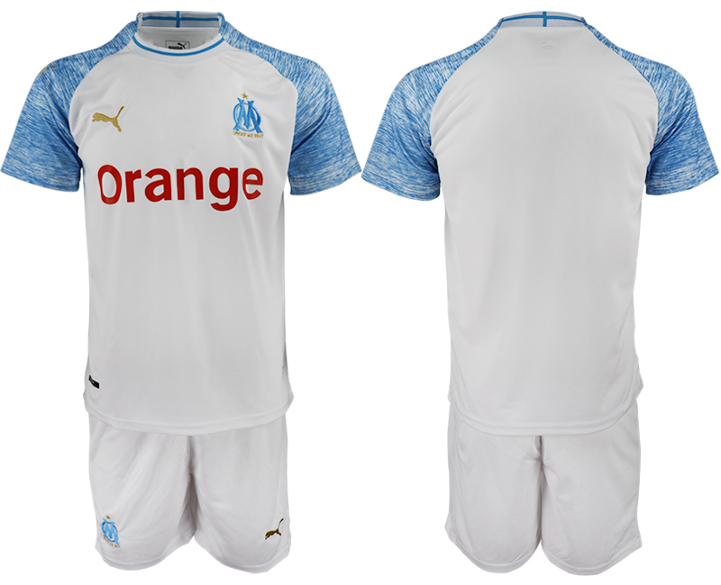 2018-19 Marseille Home Soccer Jersey
