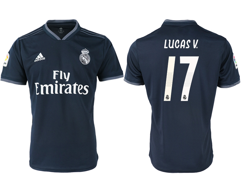 2018-19 Real Madrid 17 LUCAS V Away Thailand Soccer Jersey