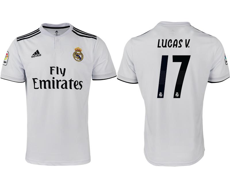 2018-19 Real Madrid 17 LUCAS V Home Thailand Soccer Jersey