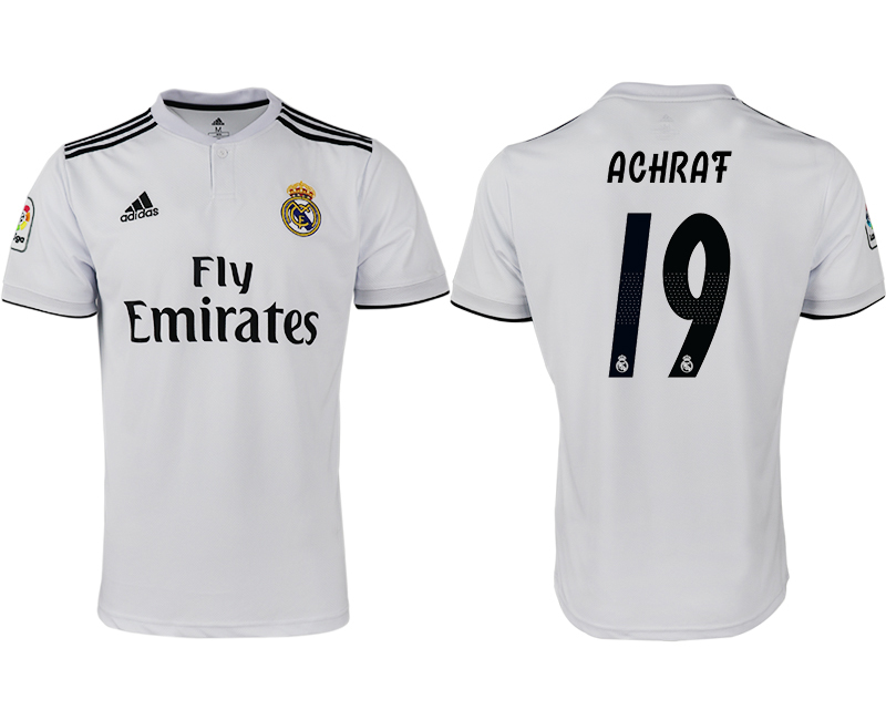 2018-19 Real Madrid 19 ACHRAF Home Thailand Soccer Jersey