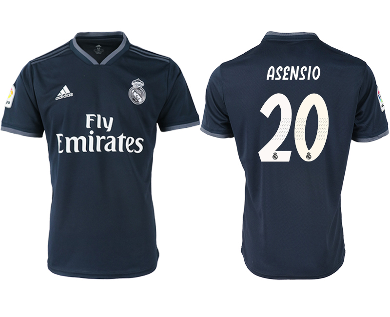 2018-19 Real Madrid 20 ASENSIO Away Thailand Soccer Jersey