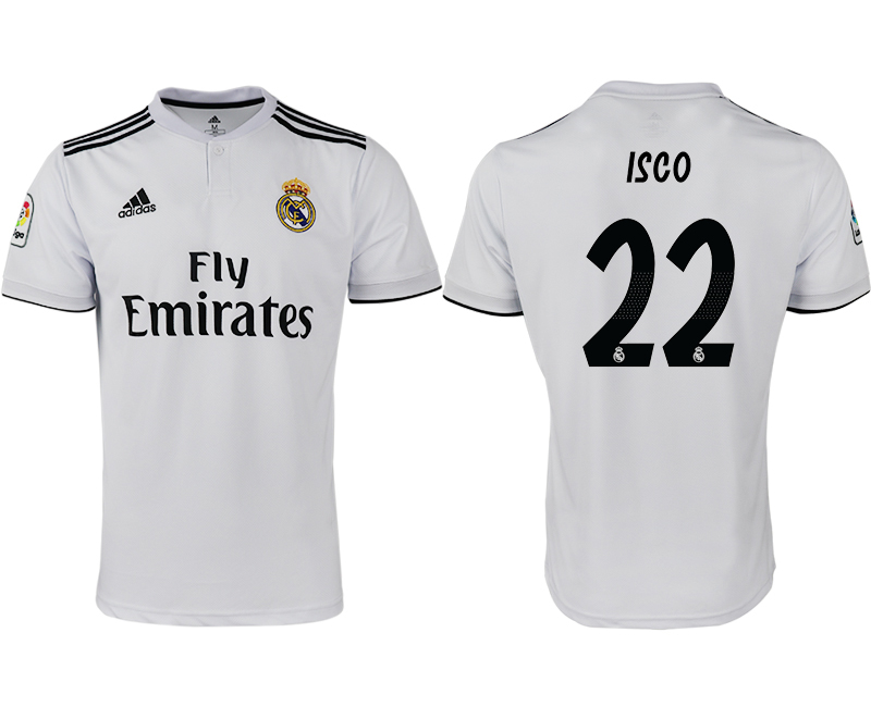 2018-19 Real Madrid 22 ISCO Home Thailand Soccer Jersey