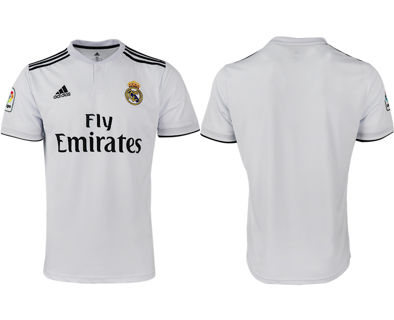 2018-19 Real Madrid Home Thailand Soccer Jersey
