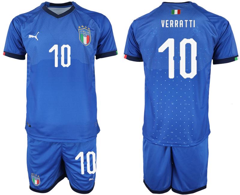 2018-19 Italy 10 VERRATTI Home Soccer Jersey
