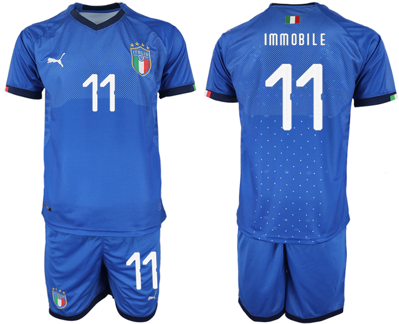 2018-19 Italy 11 IMMOBILE Home Soccer Jersey