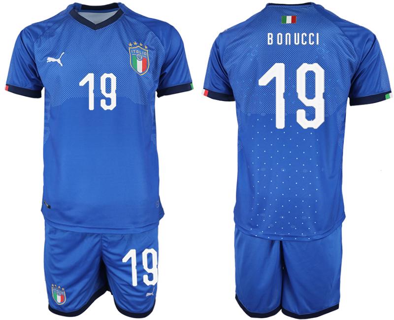 2018-19 Italy 19 BONUCCI Home Soccer Jersey