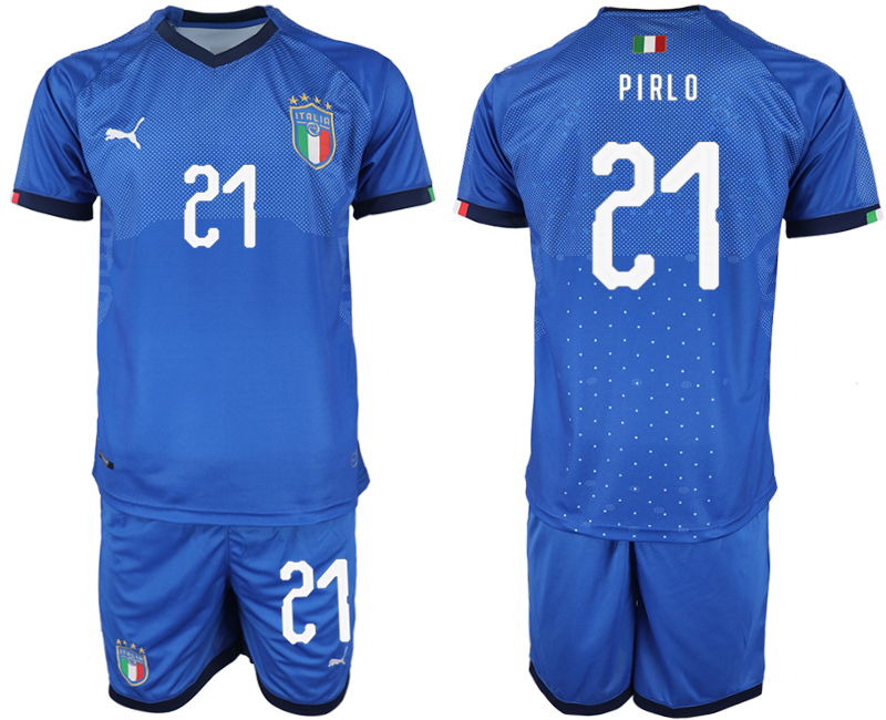 2018-19 Italy 21 PIRLO Home Soccer Jersey