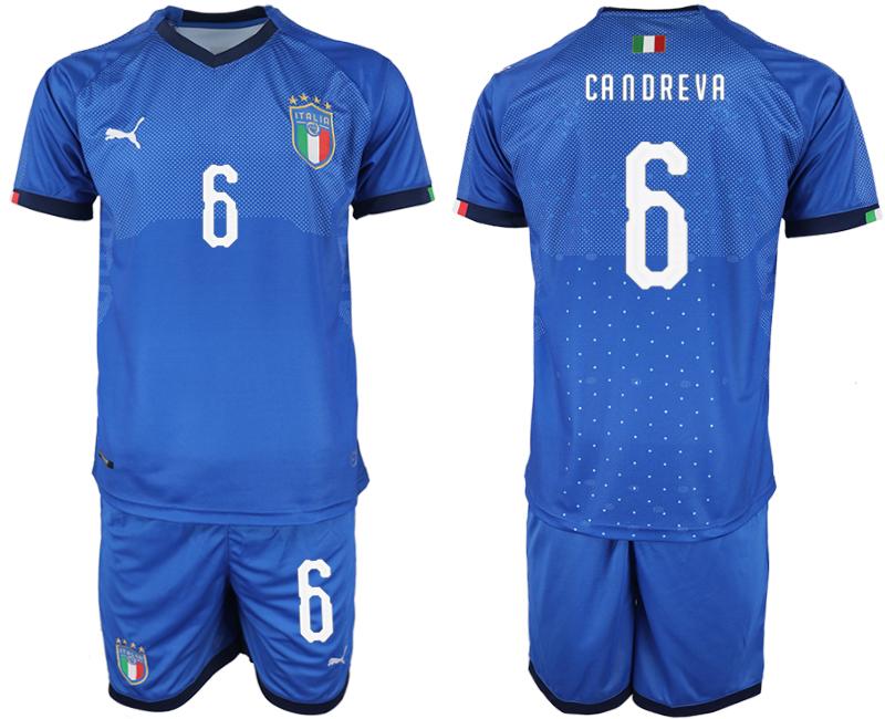 2018-19 Italy 6 CANDREVA Home Soccer Jersey