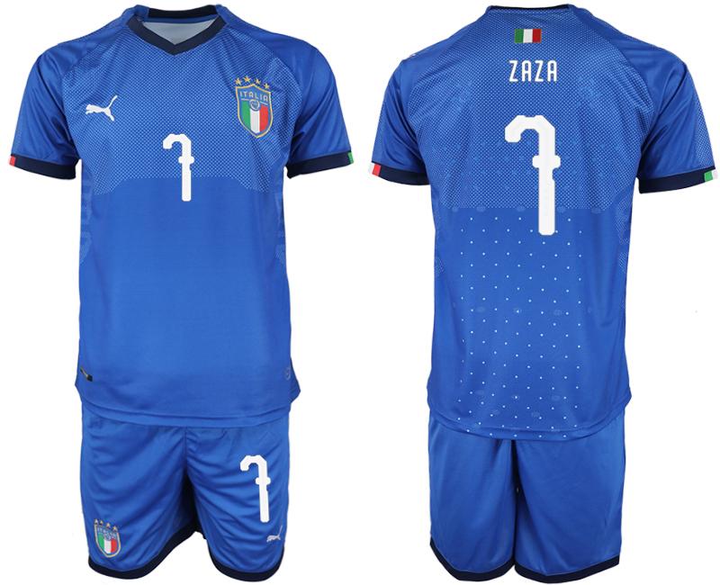 2018-19 Italy 7 ZAZA Home Soccer Jersey