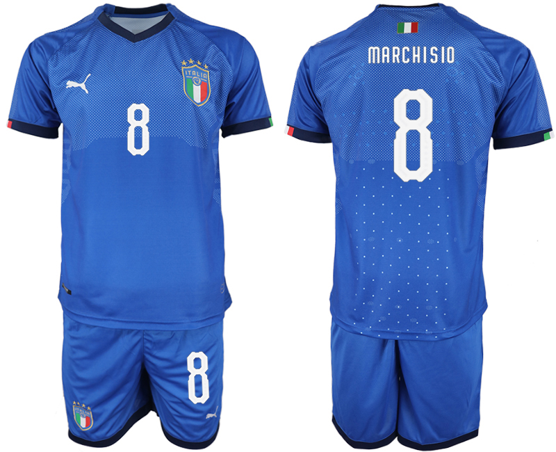 2018-19 Italy 8 MARCHISIO Home Soccer Jersey