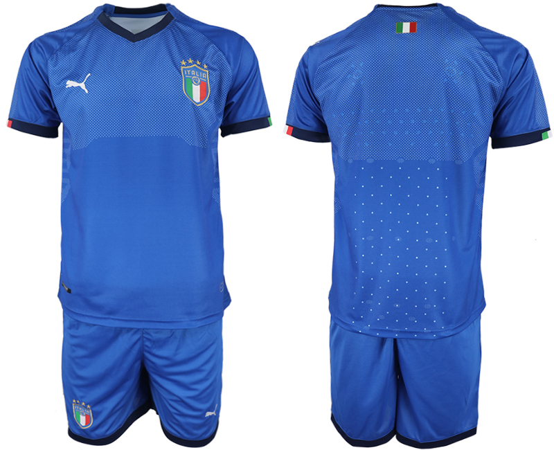 2018-19 Italy Home Soccer Jersey