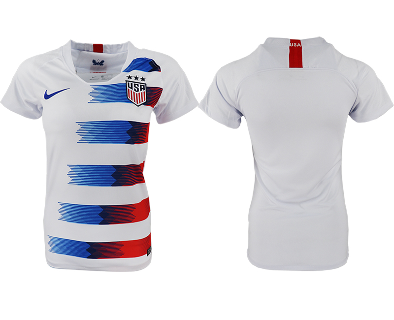 2018-19 USA Home Women Soccer Jersey