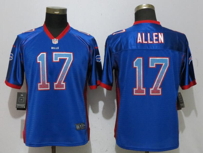 Nike Bills 17 Josh Allen Blue Women Drift Fashion Jersey