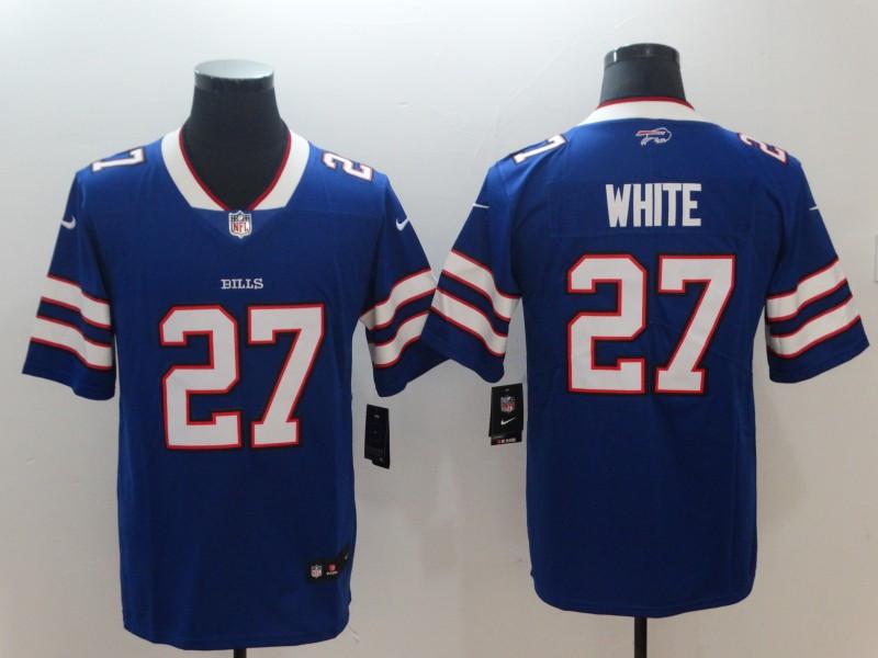 Nike Bills 27 Tre'Davious White Royal Vapor Untouchable Limited Jersey