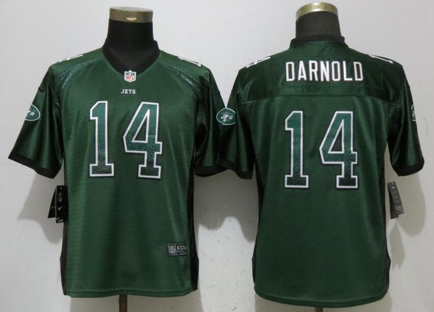 Nike Jets 14 Sam Darnold Green Women Drift Fashion Jersey