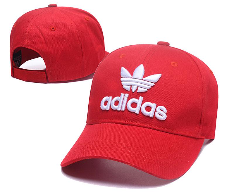 Adidas Originals Red Peaked Adjustable Hat SG