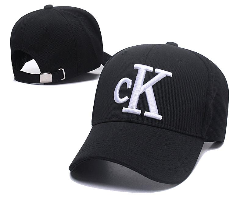 CK Fresh Logo Black Fashion Peaked Adjustable Hat SG