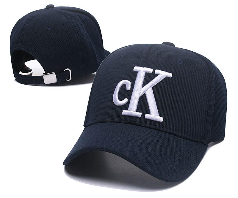 CK Fresh Logo Navy Fashion Peaked Adjustable Hat SG