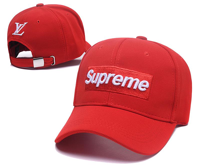 Supreme Fresh Logo Red Fashion Adjustable Hat SG
