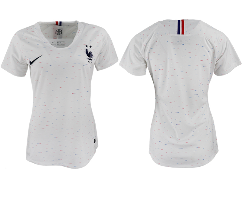 France Away Women 2018 FIFA World Cup Soccer Jersey