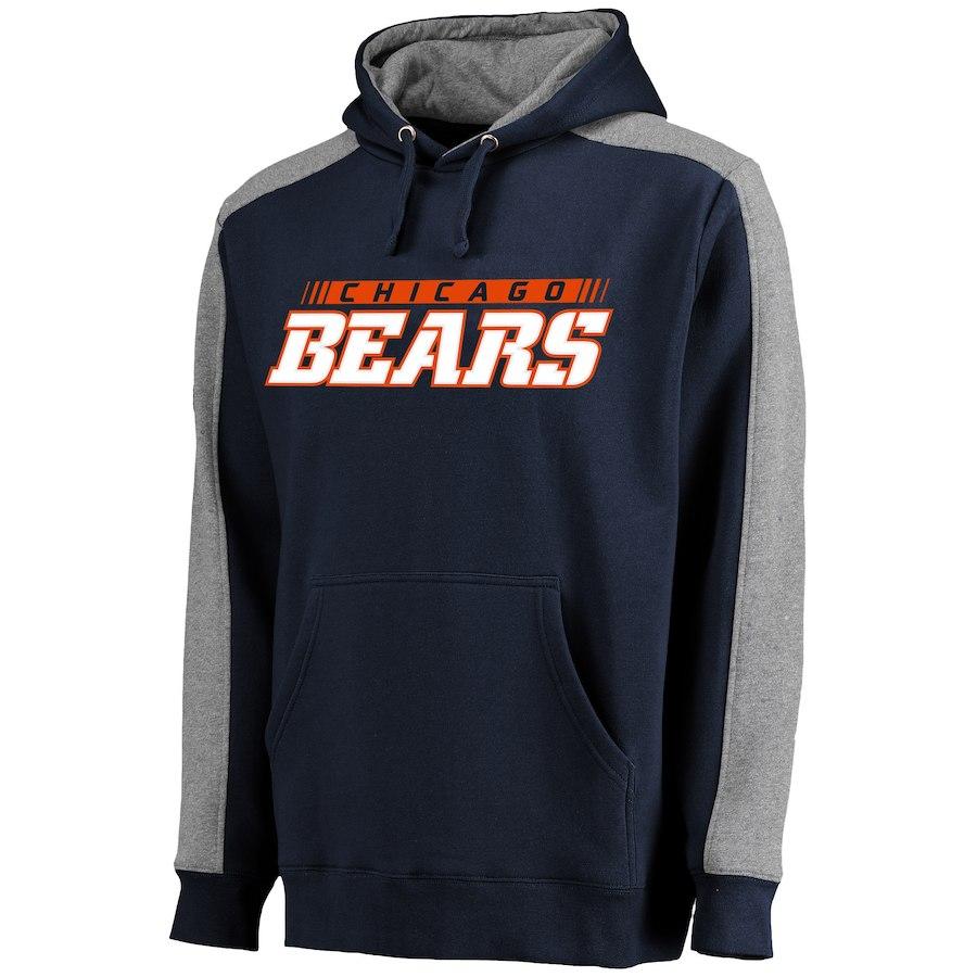 Chicago Bears NFL Pro Line Westview Pullover Hoodie Navy