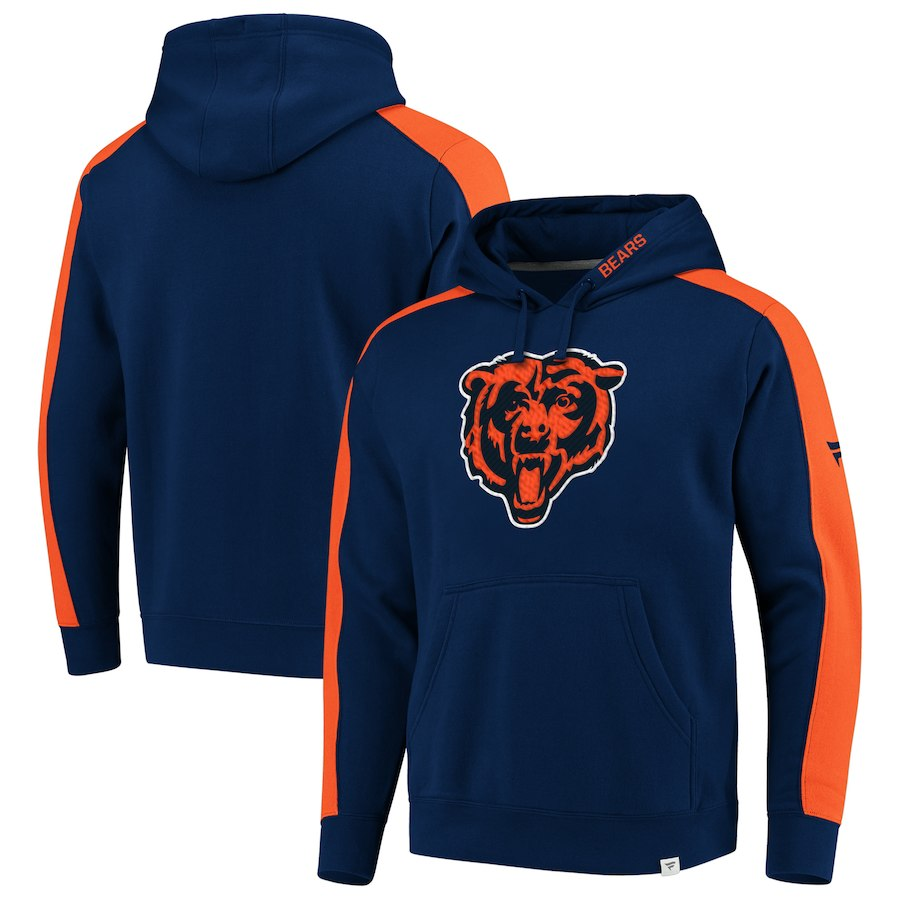 Chicago Bears NFL Pro Line by Fanatics Branded Iconic Pullover Hoodie Navy