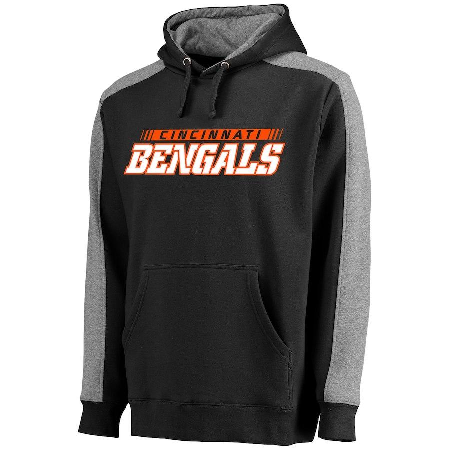 Cincinnati Bengals NFL Pro Line Westview Pullover Hoodie Black