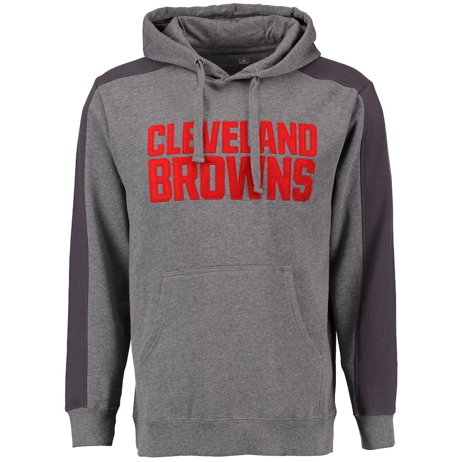 Cleveland Browns NFL Pro Line Westview Pullover Hoodie Gray