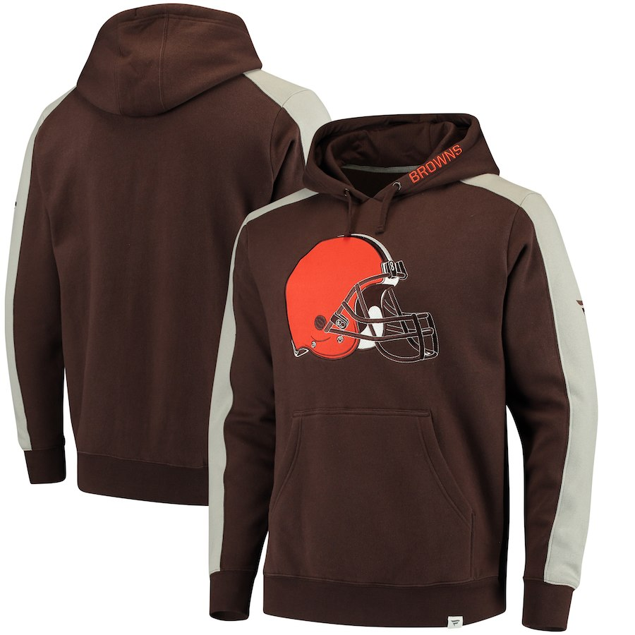 Cleveland Browns NFL Pro Line by Fanatics Branded Iconic Pullover Hoodie Brown