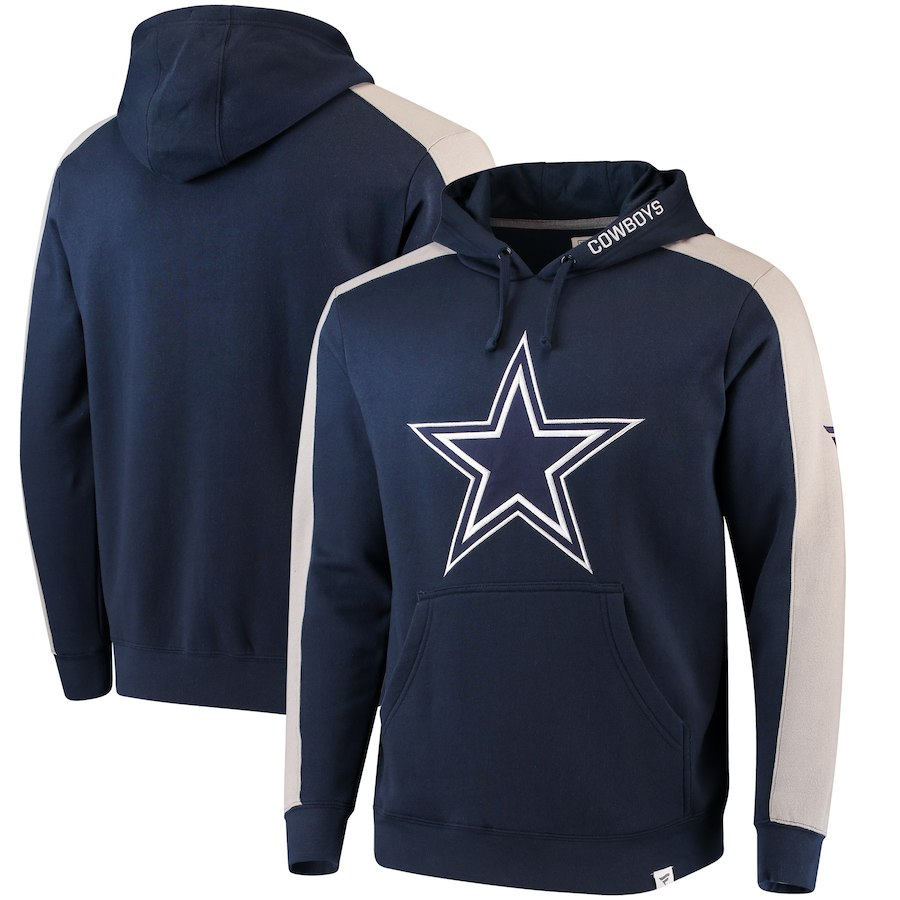Dallas Cowboys NFL Pro Line Westview Pullover Hoodie Navy