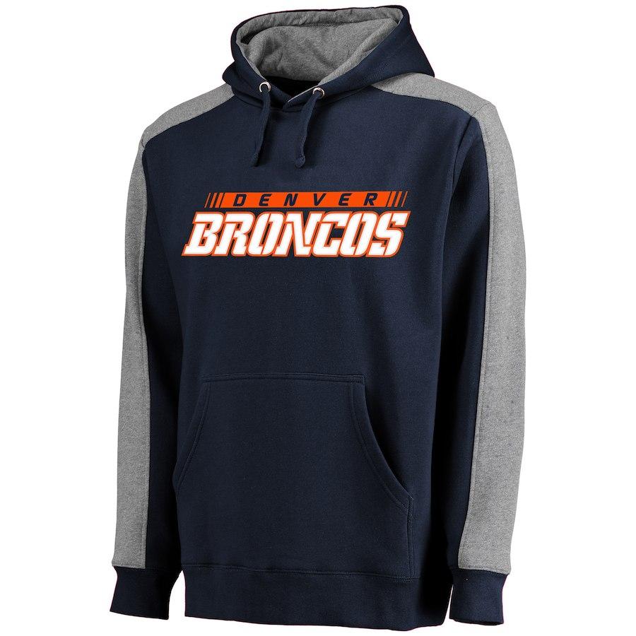 Denver Broncos NFL Pro Line Westview Pullover Hoodie Navy