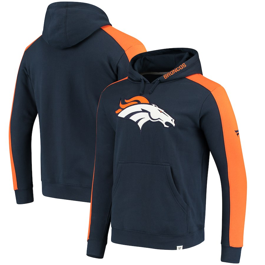 Denver Broncos NFL Pro Line by Fanatics Branded Iconic Pullover Hoodie Navy