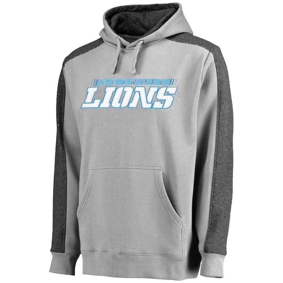 Detroit Lions NFL Pro Line Westview Pullover Hoodie Gray