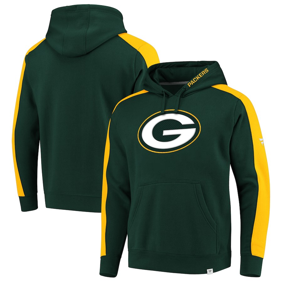 Green Bay Packers NFL Pro Line by Fanatics Branded Iconic Pullover Hoodie Green