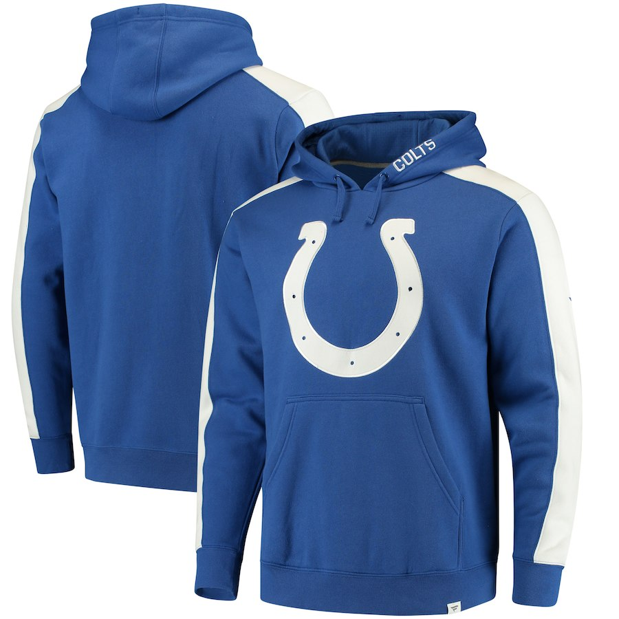 Indianapolis Colts NFL Pro Line by Fanatics Branded Iconic Pullover Hoodie Royal