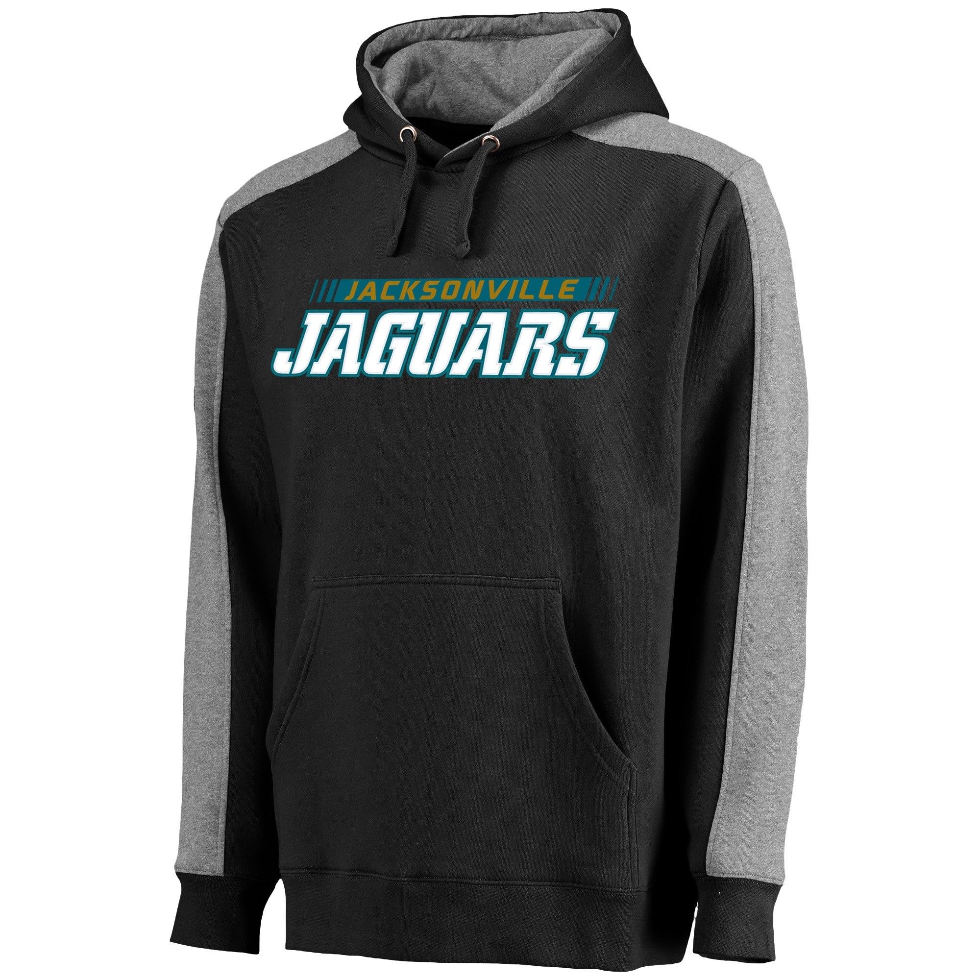 Jacksonville Jaguars NFL Pro Line Westview Pullover Hoodie Dark Gray