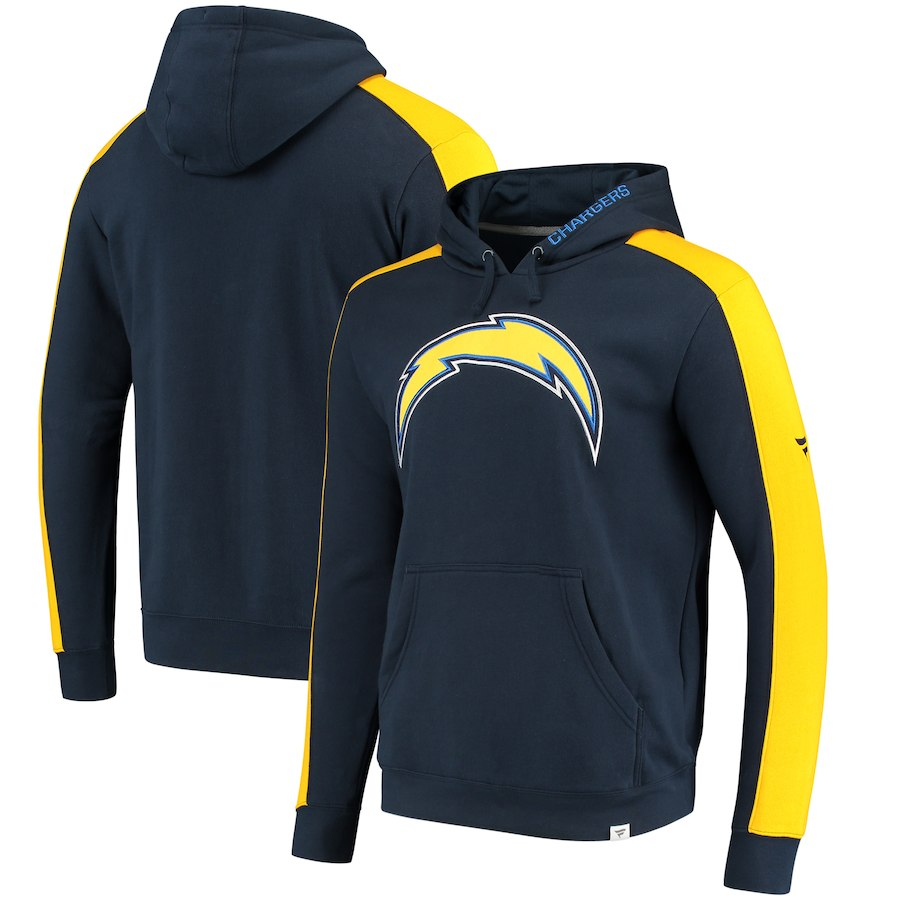 Los Angeles Chargers NFL Pro Line by Fanatics Branded Iconic Pullover Hoodie Navy