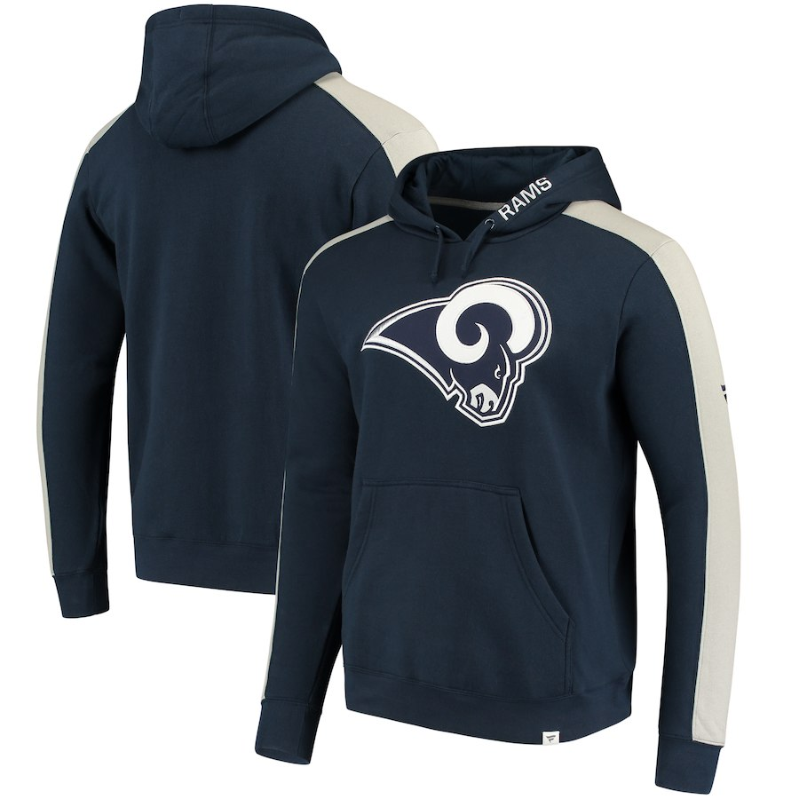 Los Angeles Rams NFL Pro Line by Fanatics Branded Iconic Pullover Hoodie Navy