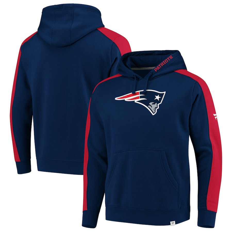 New England Patriots NFL Pro Line by Fanatics Branded Iconic Pullover Hoodie Navy
