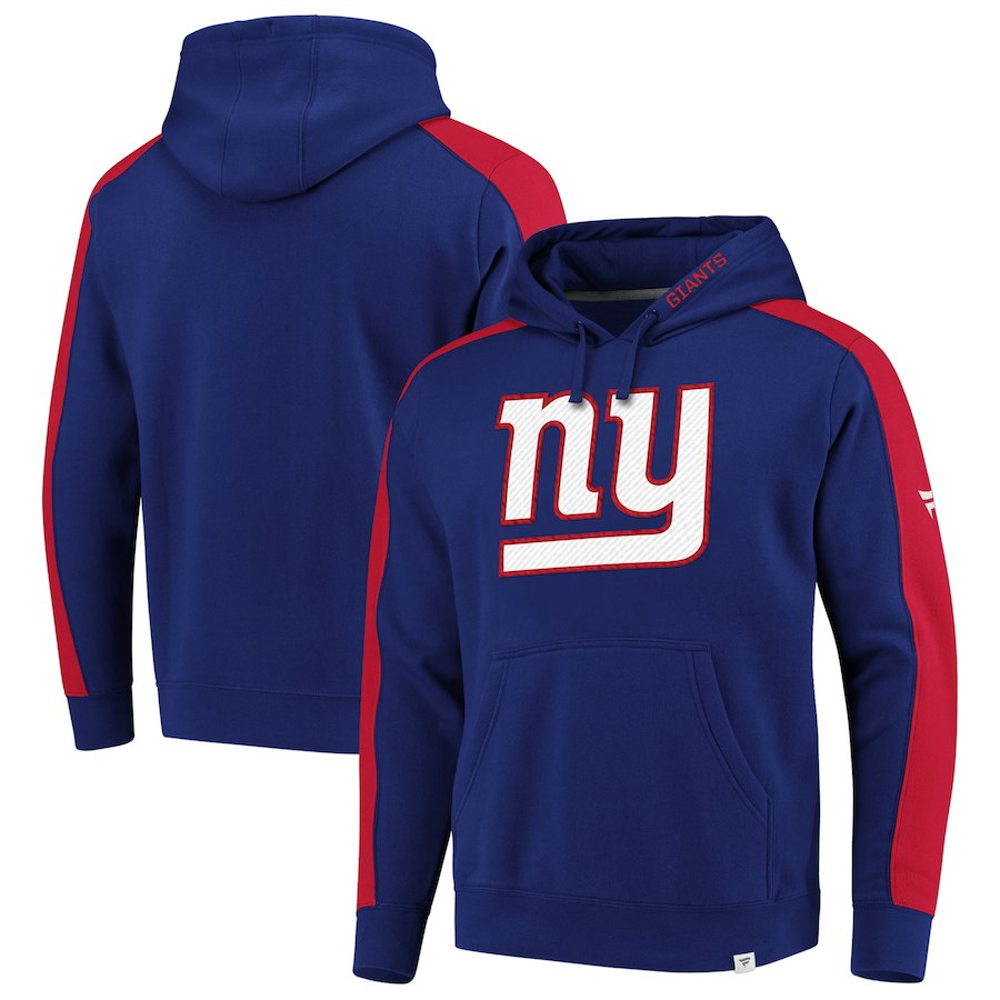 New York Giants NFL Pro Line by Fanatics Branded Iconic Pullover Hoodie Royal