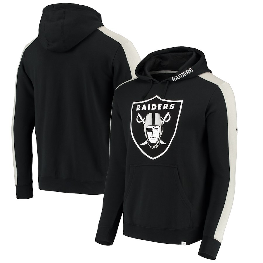 Oakland Raiders NFL Pro Line by Fanatics Branded Iconic Pullover Hoodie Black
