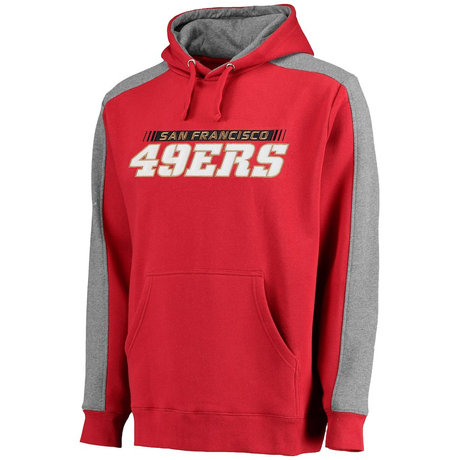 San Francisco 49ers NFL Pro Line Westview Pullover Hoodie Red